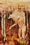 The Creature's Children 5X9' Oil On Canvas